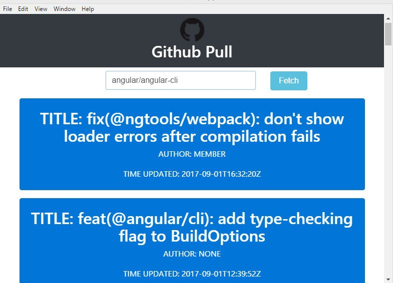 Build a Desktop App to Track GitHub Pull Requests using Angular 2
