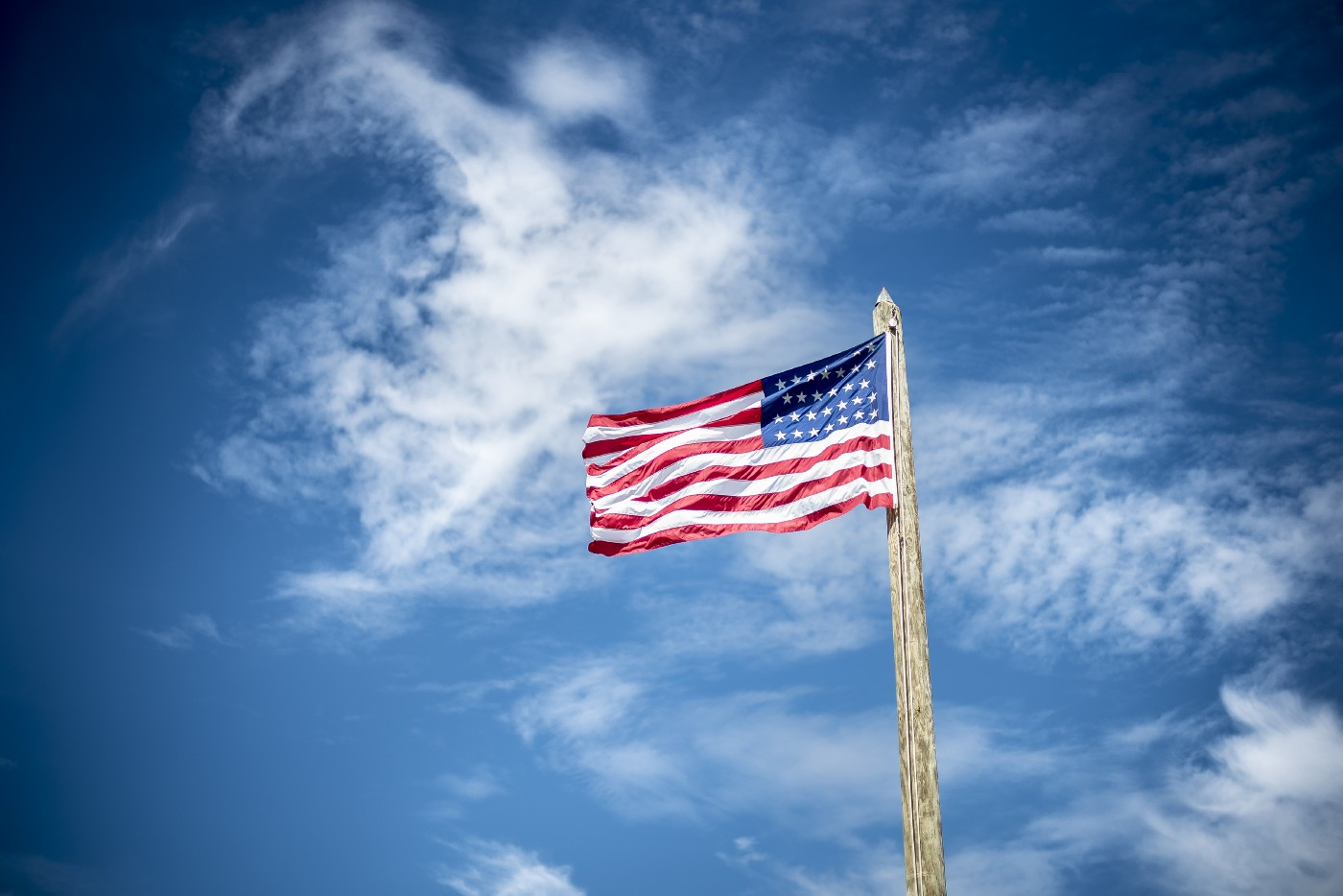 Red, White, Blue—the American flag represents Freedom and Independence