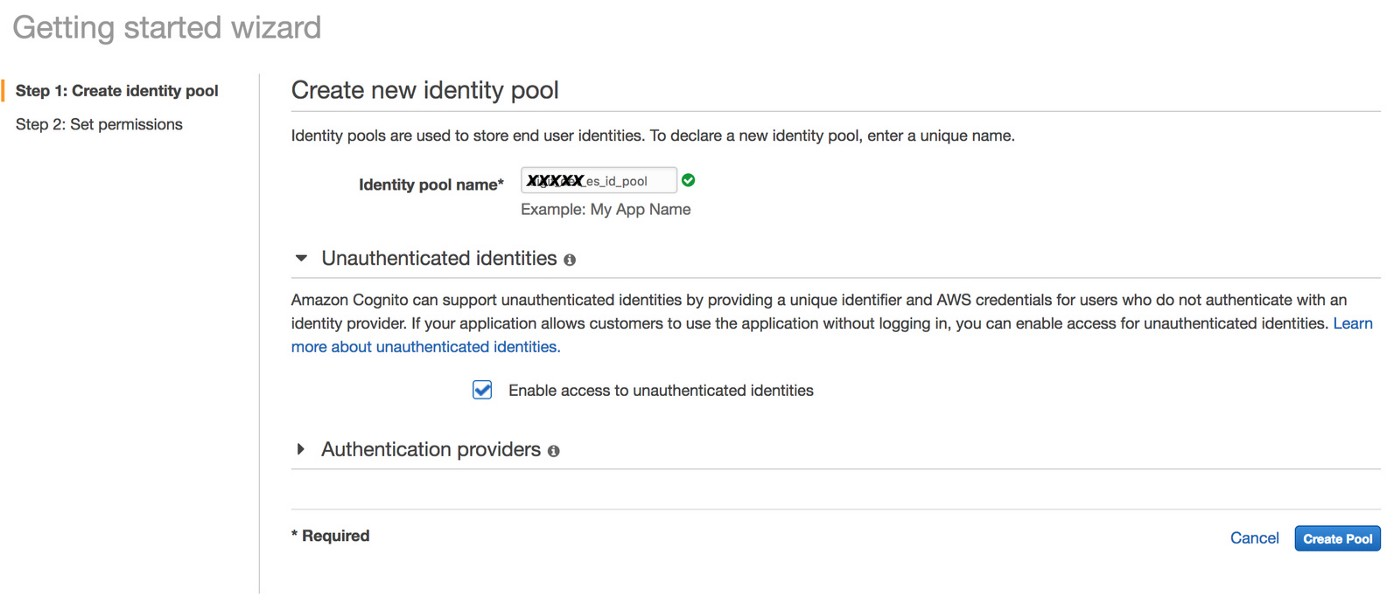 Securing AWS Elasticsearch Service by enabling Cognito Authentication