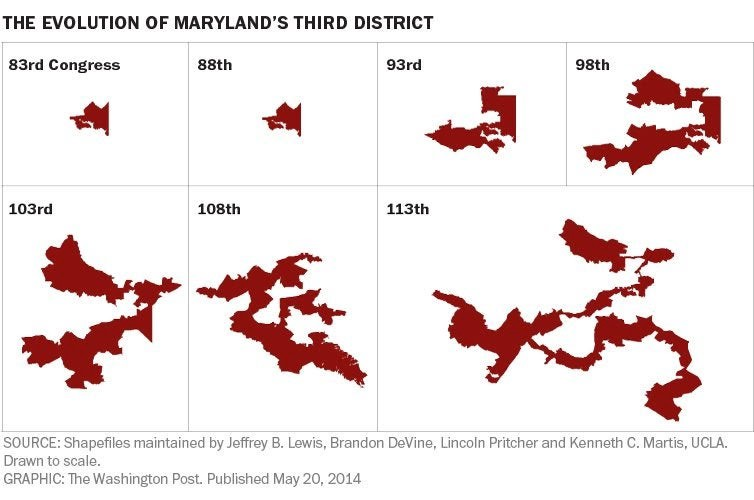 Maryland's Third: The 3rd Most Gerrymandered District in the US