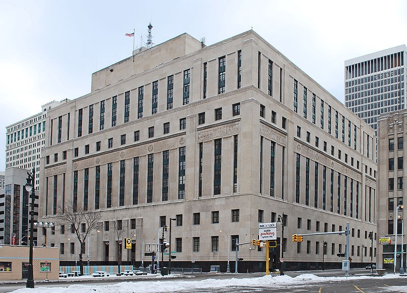 Image of the Theodore Levin United States Courthouse in Detroit, Michigan.