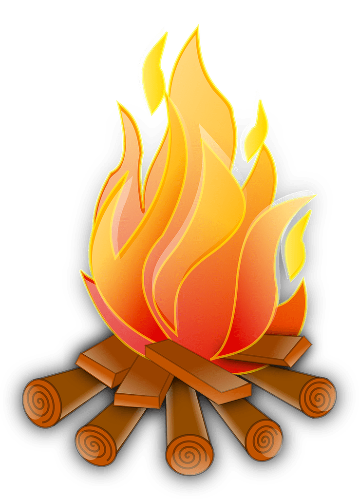 drawing of campfire flames