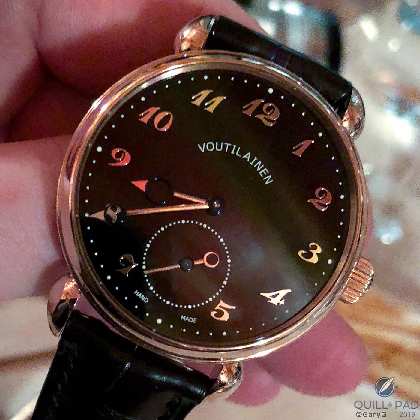 Voutilainen Vingt-8 in red gold with enamel dial and Breguet numerals