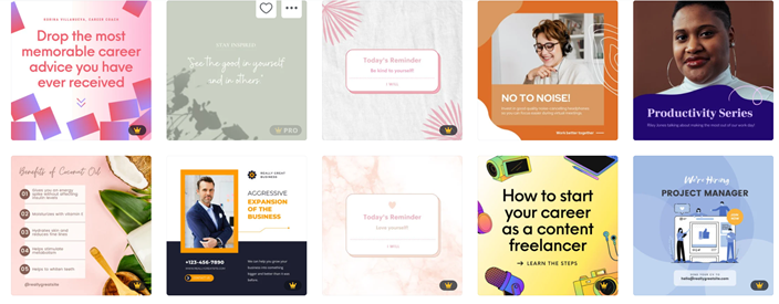 Try Canva's Linkedin post design ideas (there are templates for banners, sponsored posts and more!)