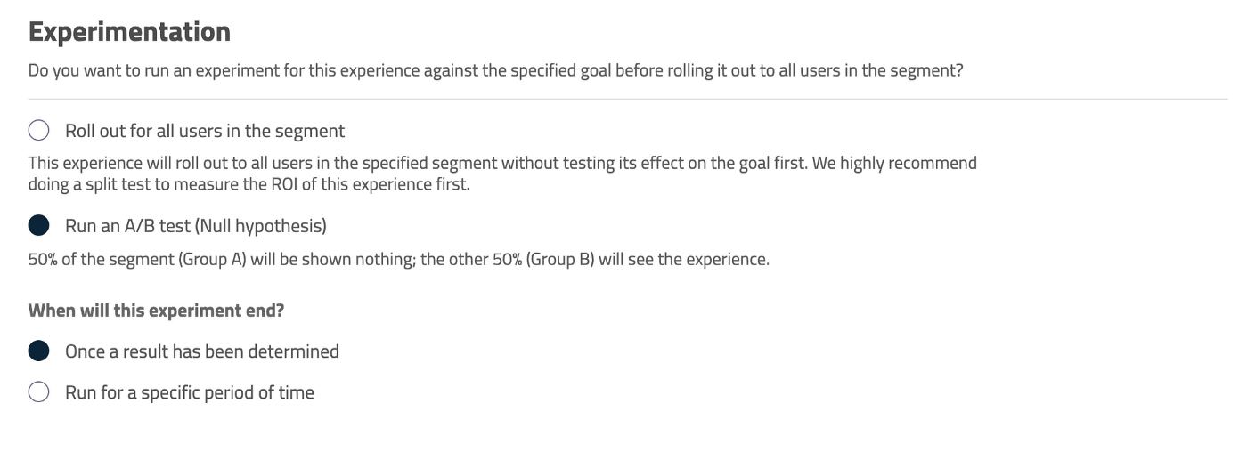A/B test in-app experiences using Userpilot