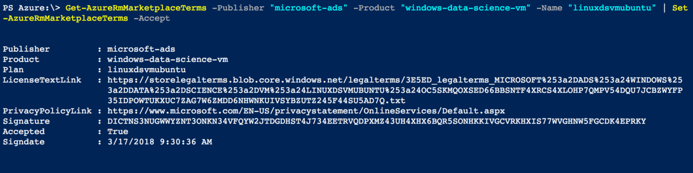 Automated dev workflow for using Data Science VM on Azure