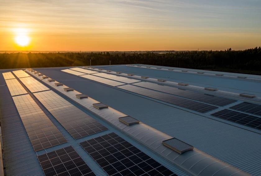 Solar panels can offset part of a manufacturing plant's energy requirements