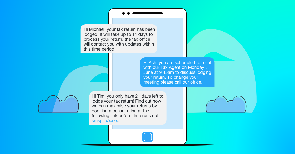 SMS for Tax Return Examples