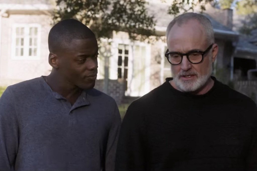 """Daniel Kaluuya and Bradley Whitford in a scene from """"Get Out"""""""