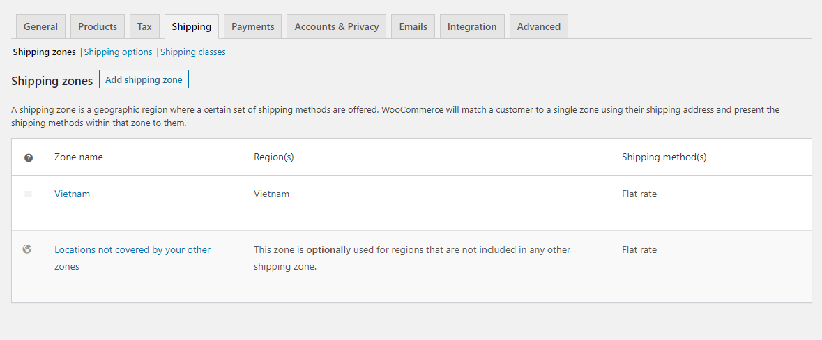 WooCommerce shipping configration - How To Set Up WooCommerce