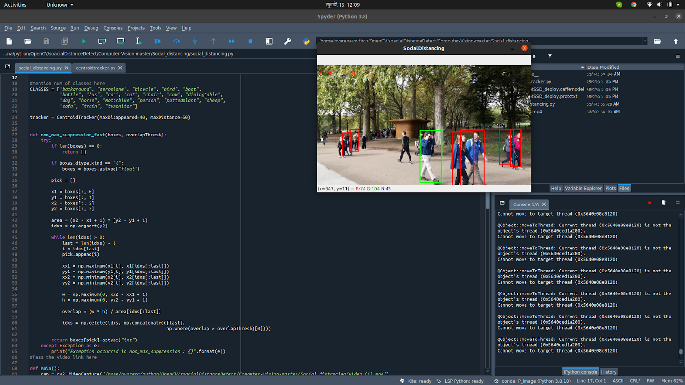 Social Distance Confirming using OpenCV Python
