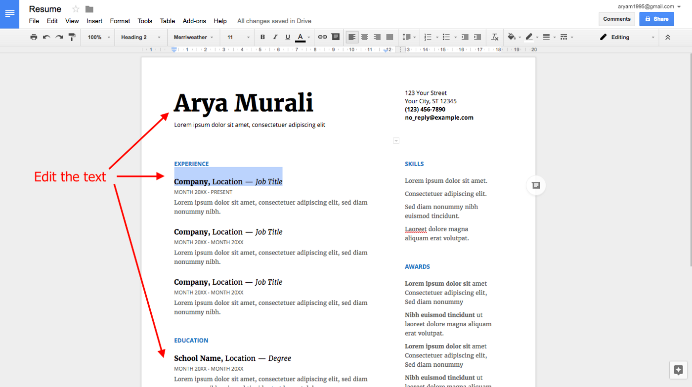 Guide to Creating Resume on Gsuite - Opportunity Project - Medium