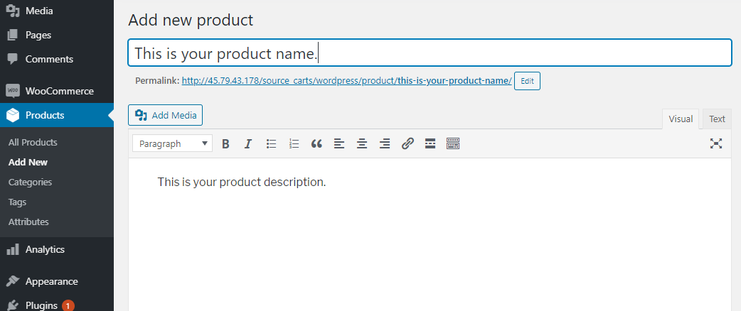 Add new products with WooCommerce - How To Set Up WooCommerce