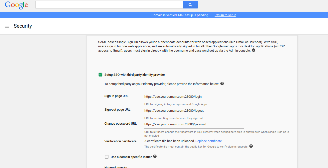 Simple SAML SSO server for Google Cloud and Apps - Google Cloud