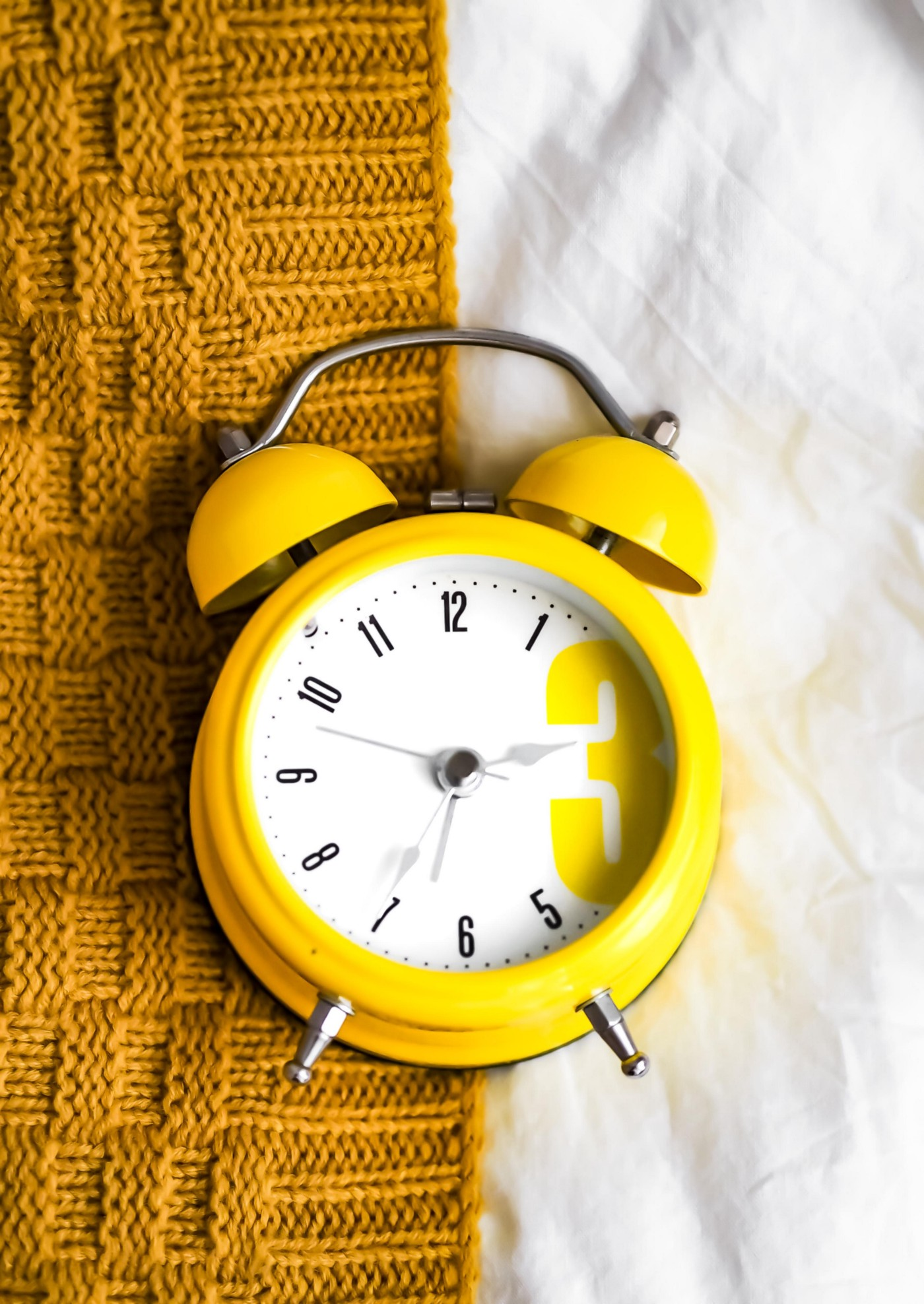 A yellow clock.