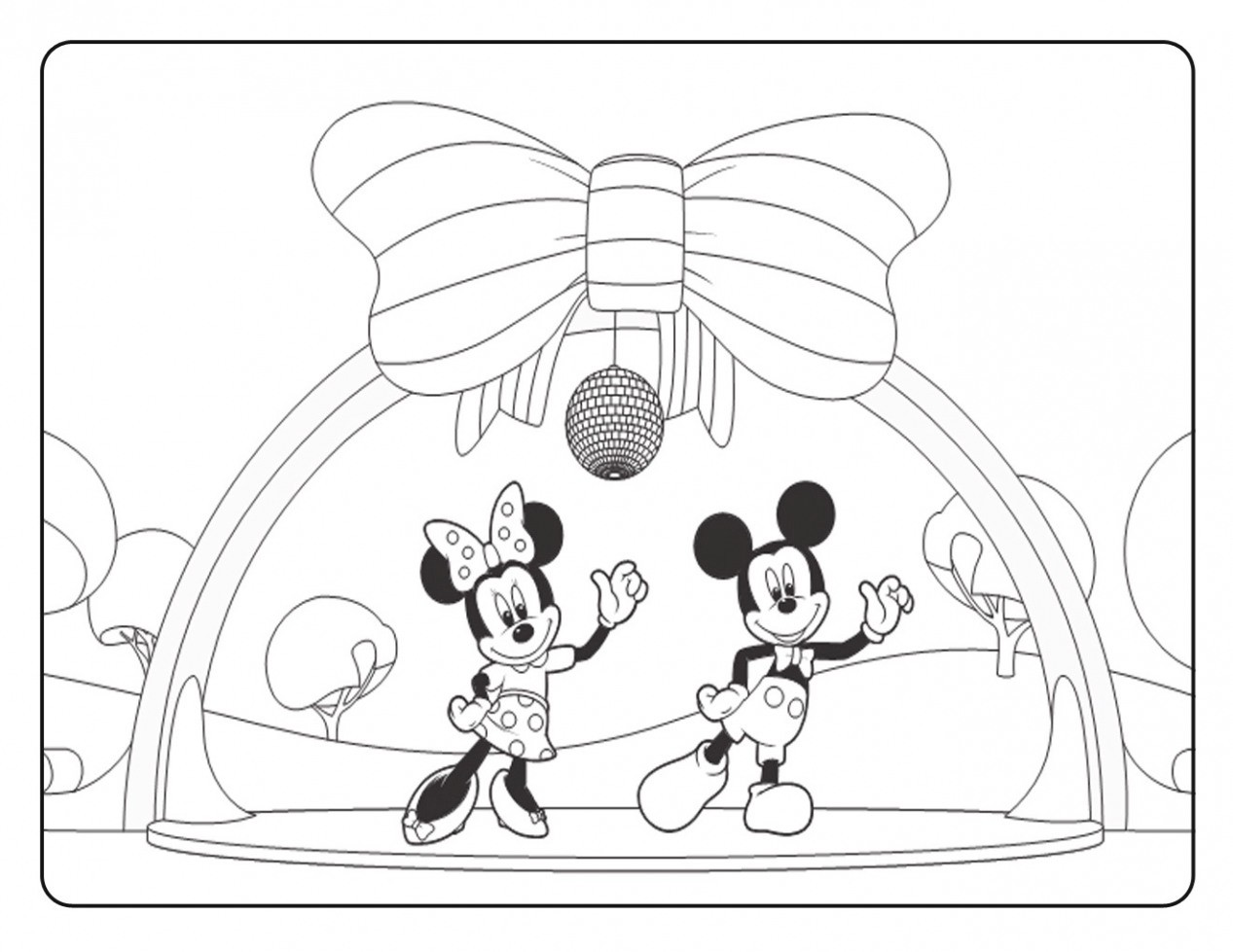 Free Printable Mickey Mouse Clubhouse Coloring Pages
