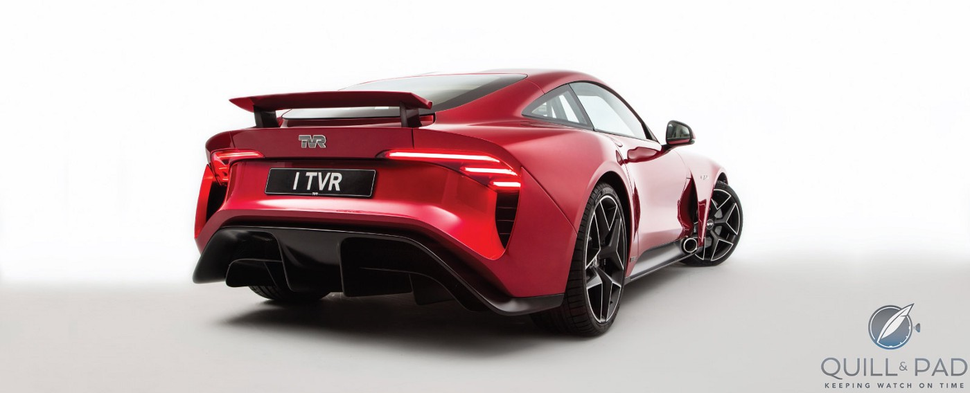 Back of the 2018 TVR Griffith