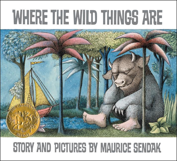 """A Wild Thing Sleeps on the cover of """"Where the Wild Things Are"""""""