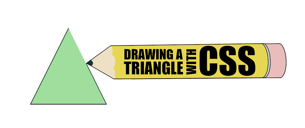 A pencil drawing a triangle