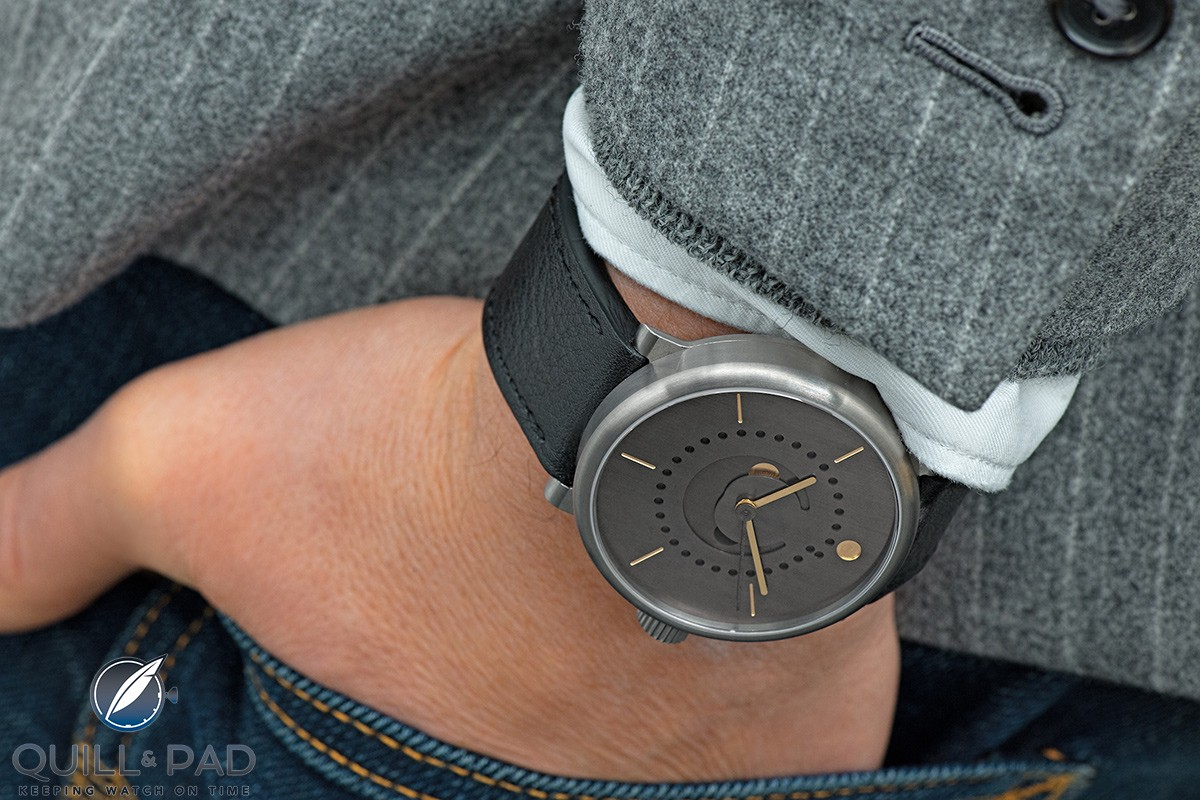 Ochs und Junior Moon Phase with patina dial