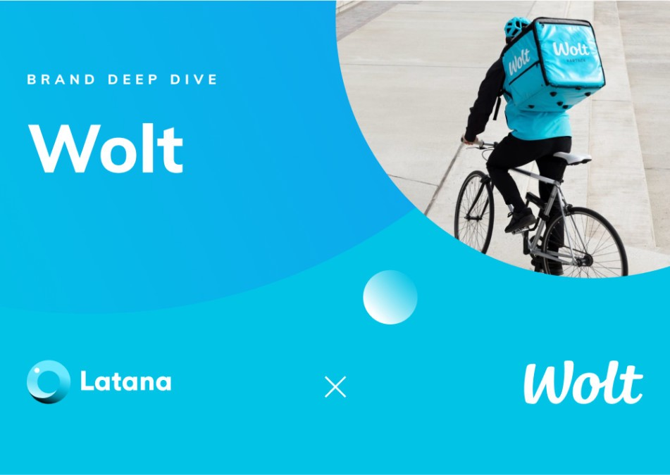 cover image with wolt logo and a rider on a bike