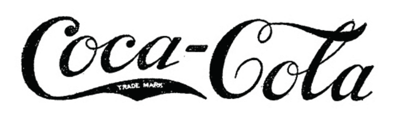 The Very First Trademarked Coca-Cola Logo