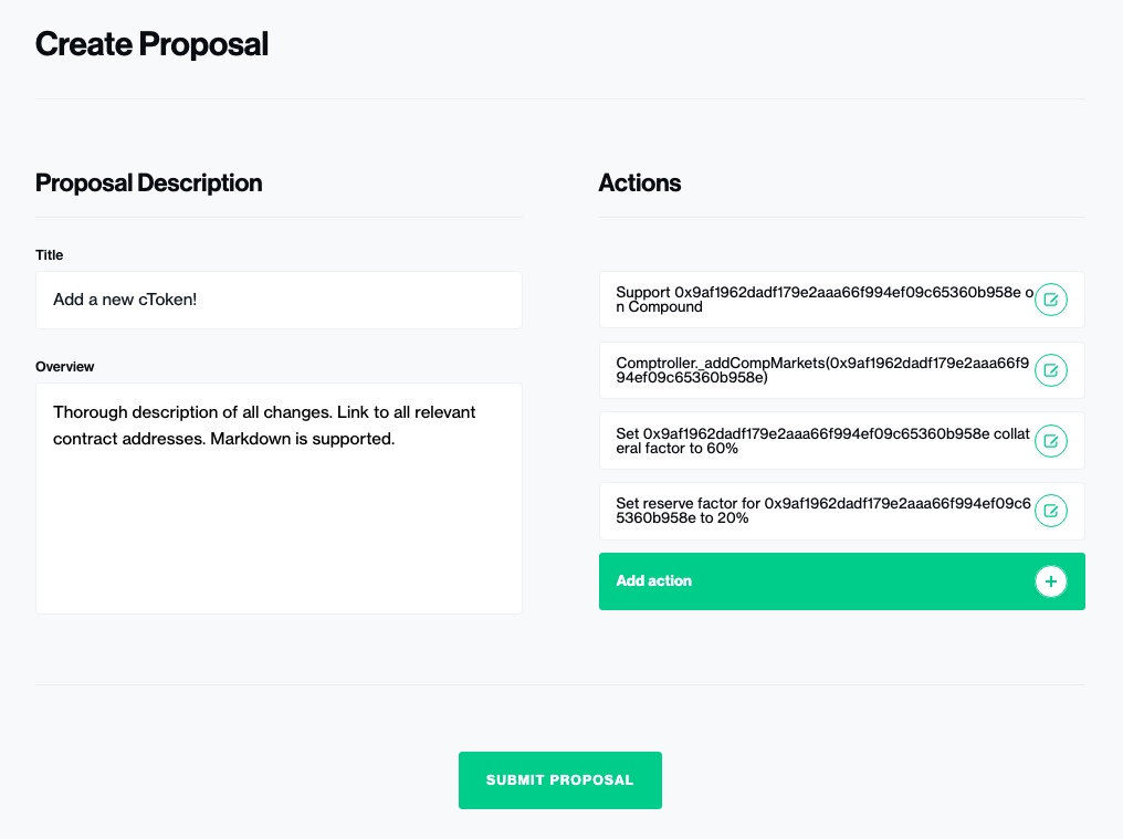Creating a Compound Governance Proposal