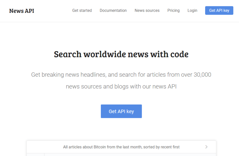 Top 10 Best News APIs: Google News, Bloomberg, BING News and more