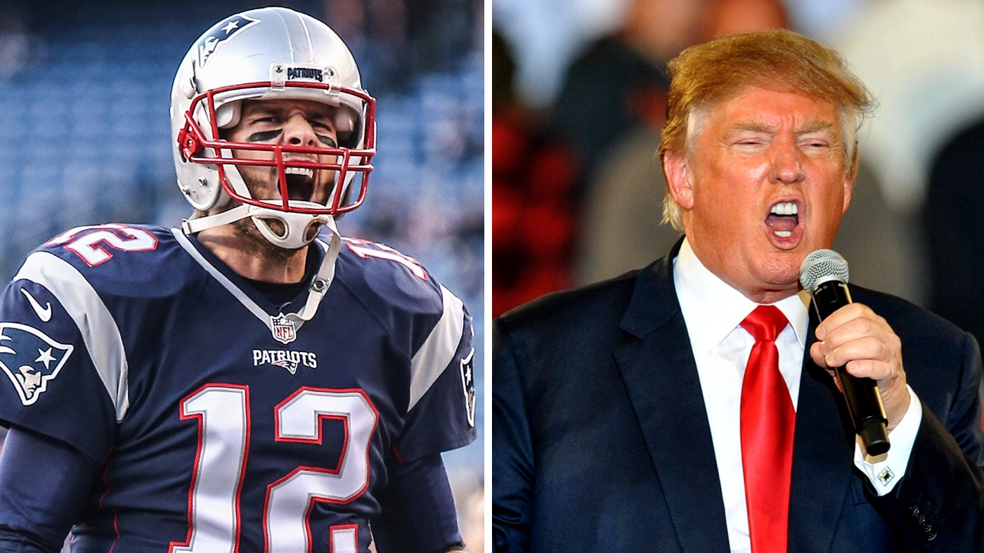 Tom Brady and Donald Trump are playing offense.