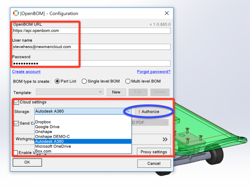 Step-by-step: How to configure Autodesk Cloud Viewer with OpenBOM