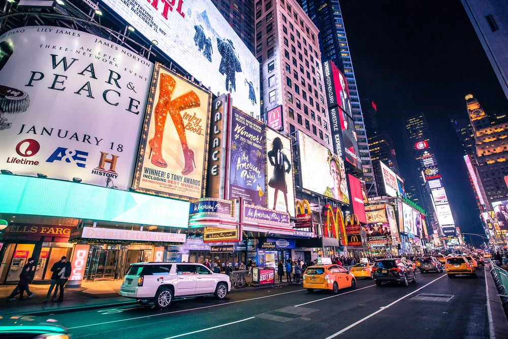 Facebook for marketing looks like New York Time Square online