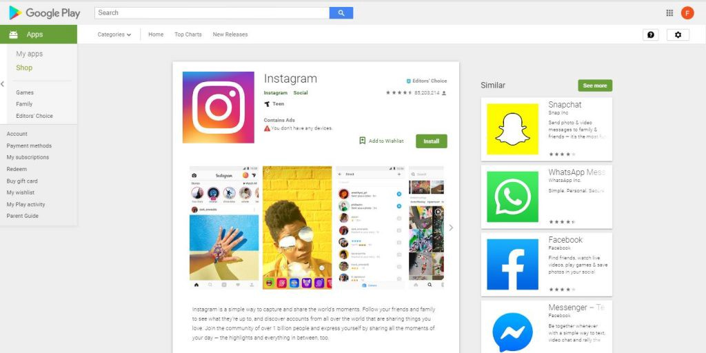 Instagram Hits 1 8 Billion Downloads in the Google Play Store
