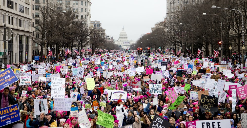 The Women's March of 2017 in Washington, D.C.