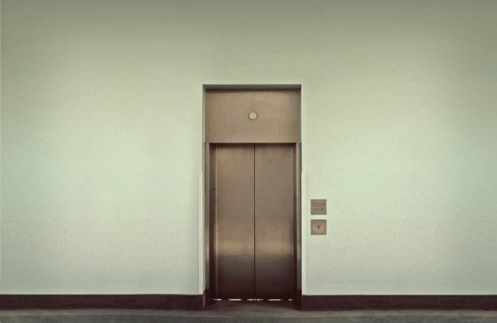 an elevator with a wide entrance