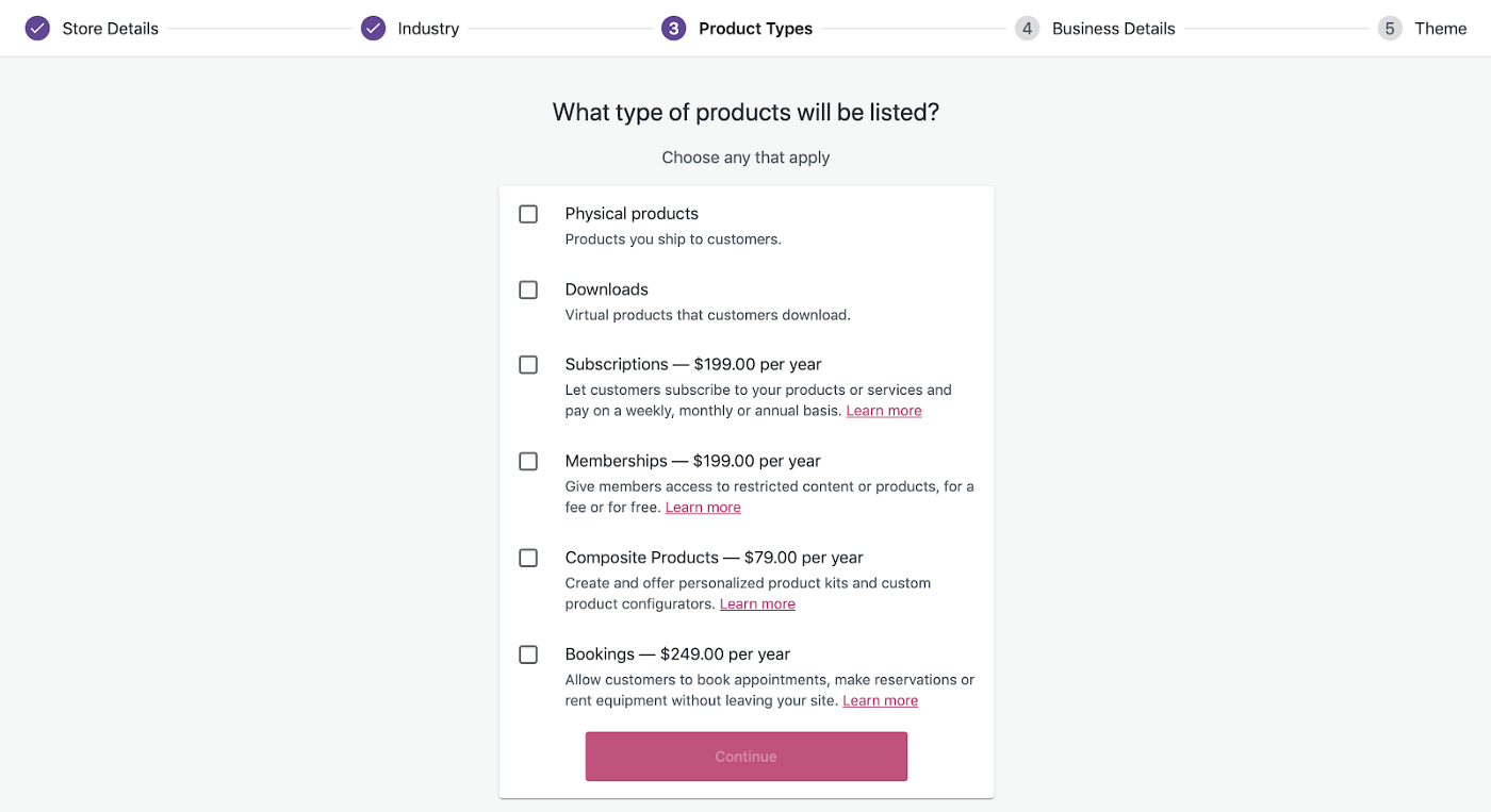 Step 3: Product types - How To Set Up WooCommerce