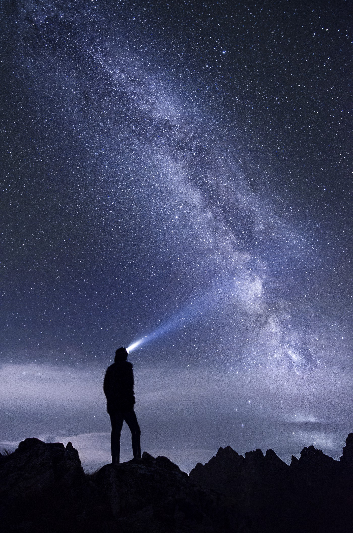 A man looking into the stars—One Minute Musings | Poetry on Medium
