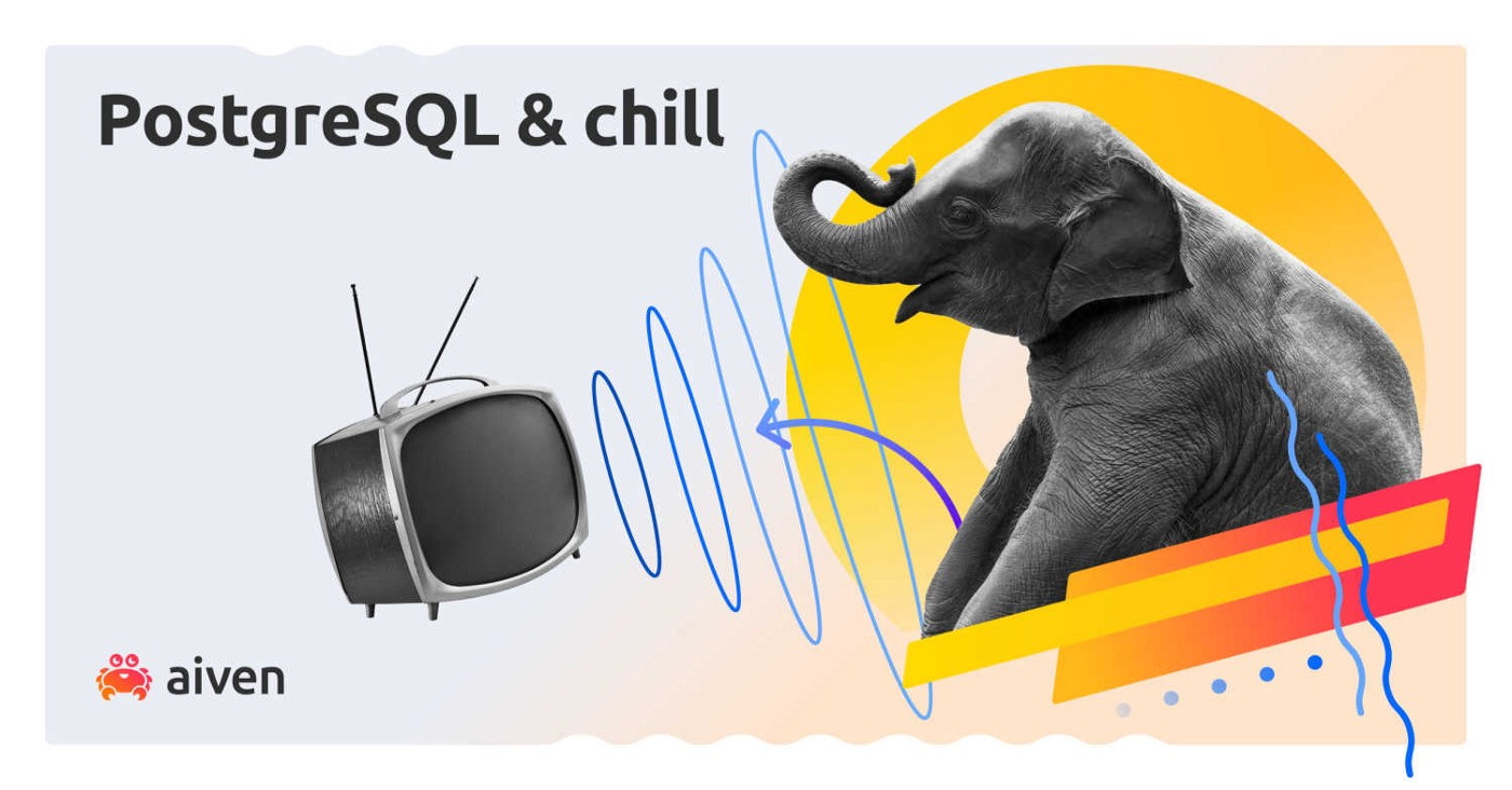 An elephant watches movies in a PostgreSQL tutorial from Francesco Tisiot