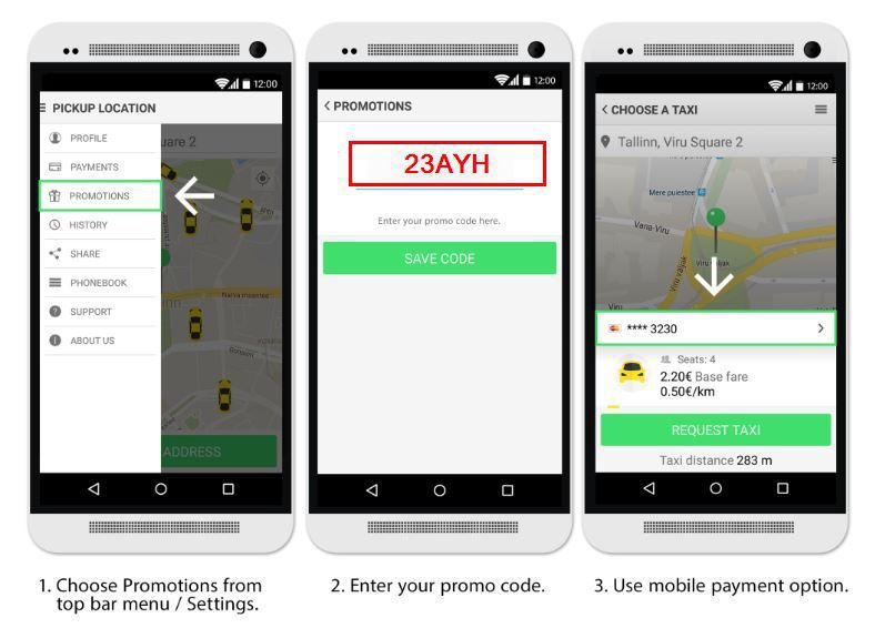 Taxify Promo Code — First Ride With Taxify For FREE — 23AYH