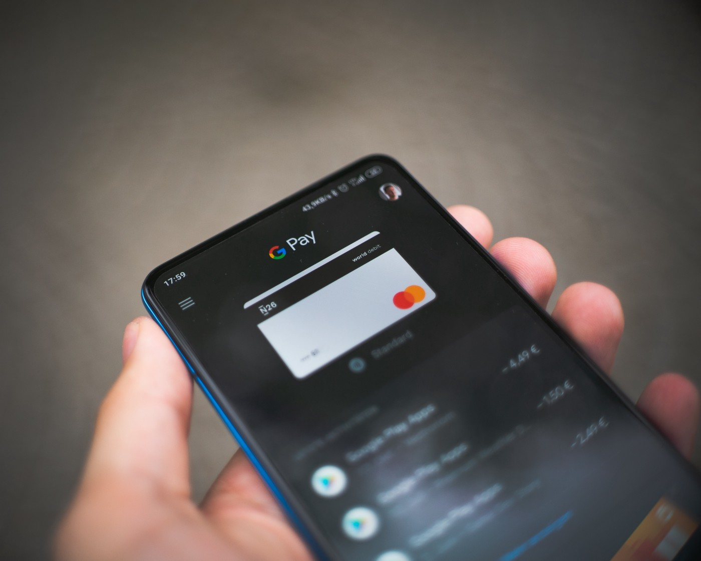 Image of Google Pay on phone.