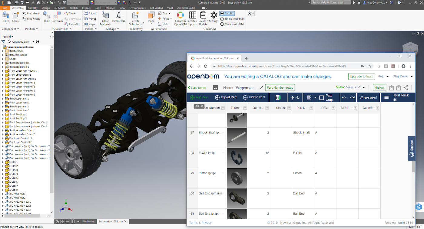 Heads up — Enhancing Catalog Functions to OpenBOM CAD plug-ins