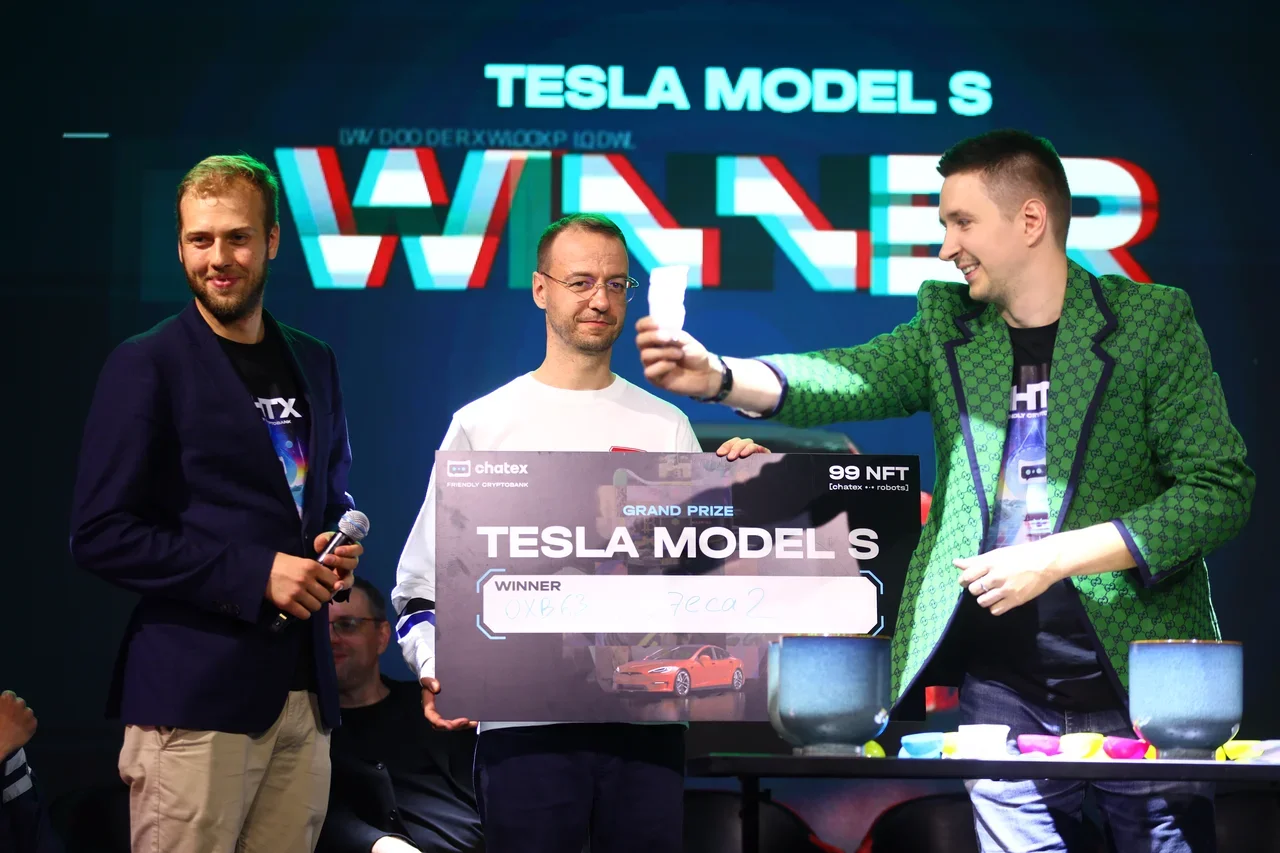 Tesla Model S Raffle to the lucky #99_ROBOTS NFT Owner by Chatex