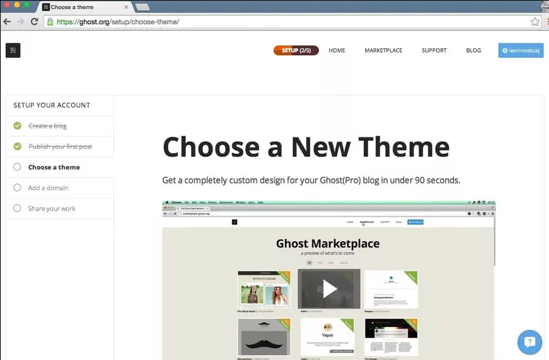 onboarding checklist template by ghost.org