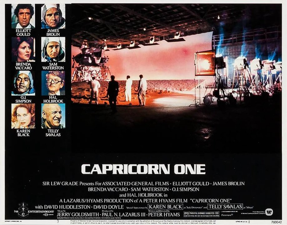 Poster for Capricorn One, 1977 conspiracy thriller movie