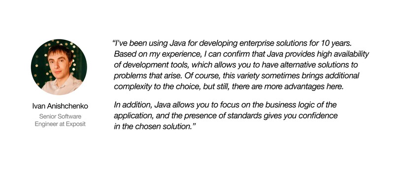 Quote from Java developer