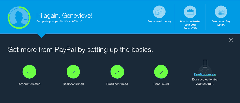 PayPal onboarding checklist template