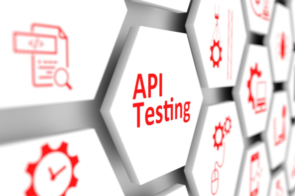 """Header image for article; Just says """"API testing."""""""