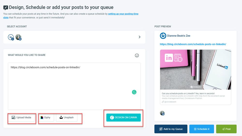 view linkedin profiles anonymously and schedule your posts with Circleboom Publish