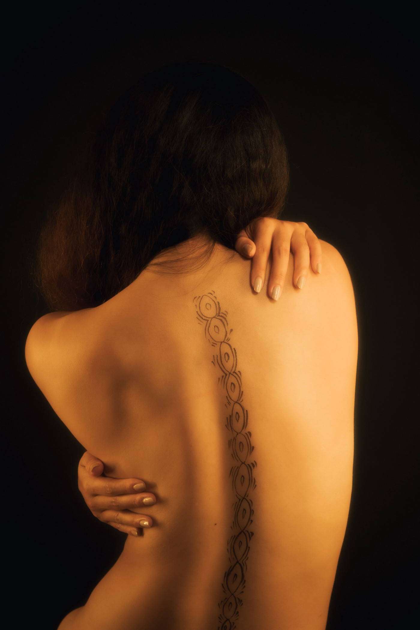 A woman's back and spine