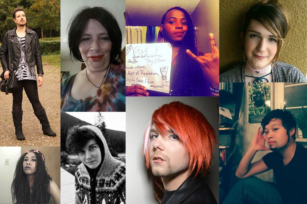 A collage of eight individual photos beautifully illustrate a range of gender expressions.