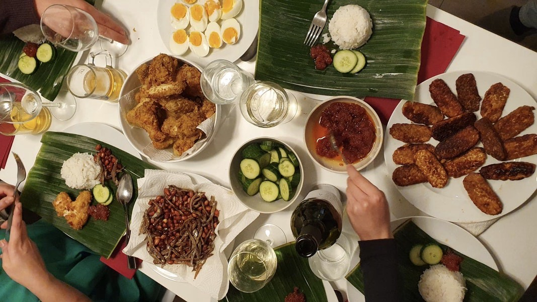 Nasi Lemak in Berlin, made by a good friend who makes kaya.